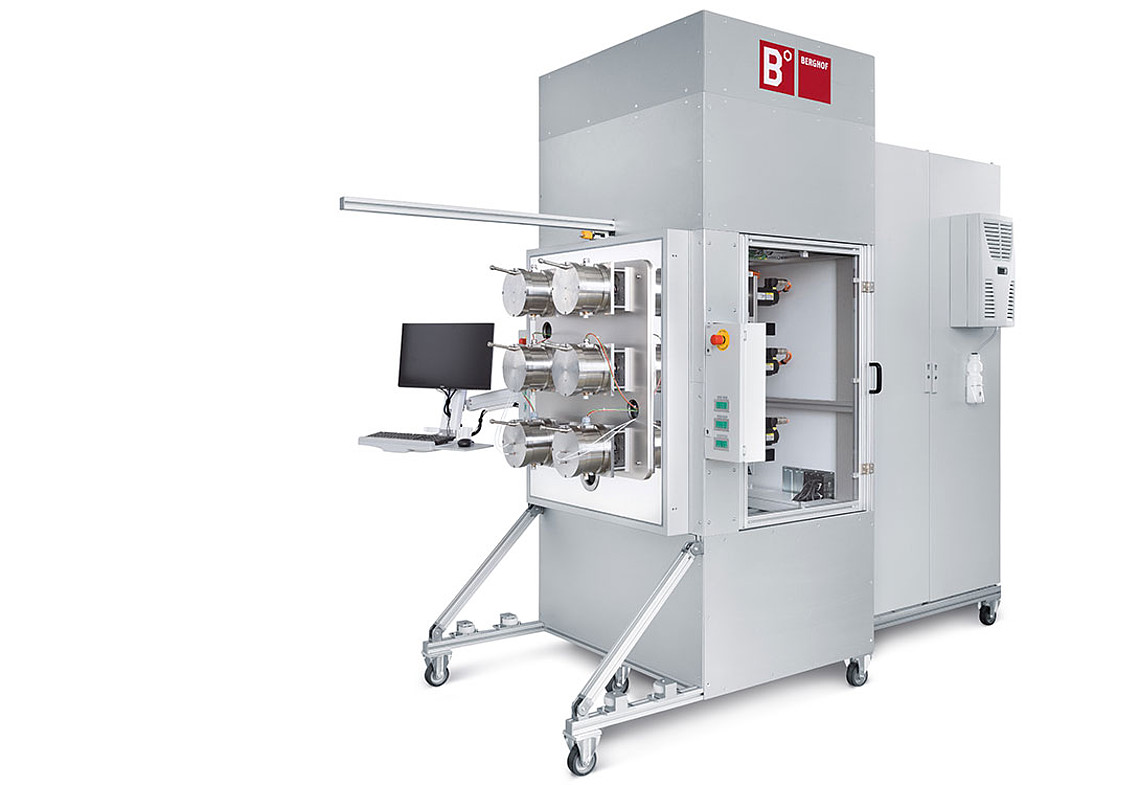 Hydraulic test system for up to six BLDC motors
