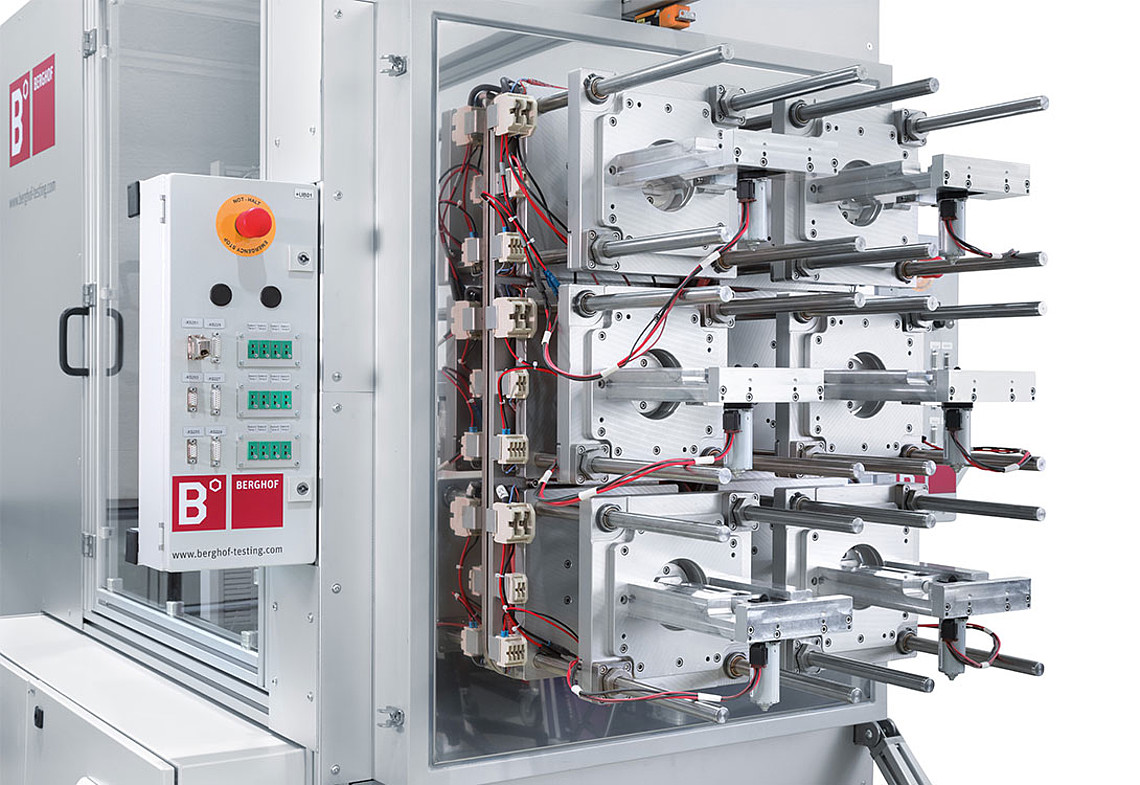 Endurance test system for up to six spindle motors
